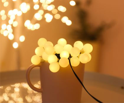 Grinding ball String Lights