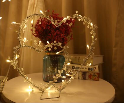 Valentine's day Love Iron lamp